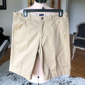 Like new J Crew flat front khaki shorts